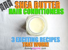 It's easy to make your own Shea butter hair conditioner at home...This is my favorite easy DIY Shea butter hair conditioner recipe with coconut milk and jojoba oil!
