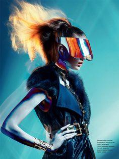 Nadja Bender is Electric in Images Lensed by Sebastian Kim for Numéro #135