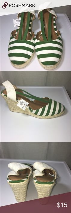 Brand New Green and White Espadrilles-9 These green and White espadrilles are still new with tags and will be perfect for the upcoming summer months! Dressed up or down they are chic and comfortable! Montego Bay Club Shoes Espadrilles