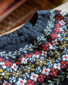 Feeling sad to say goodbye to the colorwork portion of this sweater, but more excited to get it into my wardrobe! Pattern is Merino Pullover, Knitting Patterns, Crochet Patterns, Icelandic Sweaters, Fair Isle Pattern, Fair Isle Knitting, How To Purl Knit, Knitting Needles, Pulls