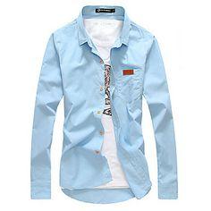 Men's Korean Fashion Slim Shirt – USD $ 49.99
