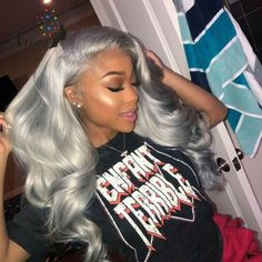 Rabake Human Hair Bundles With Closure Grey Ombre Hair Bundle With Lace Closure Brazilian Straight Remy Hair. off promotion factory cheap price,DHL worldwide shipping, store coupon available. Color Ombre Hair, Grey Ombre, Hair Colorful, Curly Hair Styles, Natural Hair Styles, Corte Y Color, Baddie Hairstyles, Hairstyles 2018, African Hairstyles