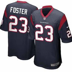 Nike Elite Youth Houston Texans #23 Arian Foster Team Color Navy Blue NFL Jersey$79.99