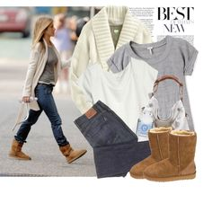 Celebrity Style: Jennifer Aniston, created by #liya on #polyvore. #fashion #style #Splendid Old Navy