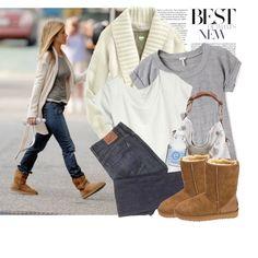 Celebrity Style: Jennifer Aniston, created by #liya on #polyvore. #fashion #style #Splendid Old Navy
