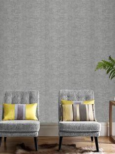 Ponder Green Wallpaper - Green Geometric Wall Coverings by Graham Brown Funky Wallpaper, Luxury Wallpaper, Contemporary Wallpaper, Green Wallpaper, Home Wallpaper, Designer Wallpaper, Living Room Designs, Living Spaces, Living Room