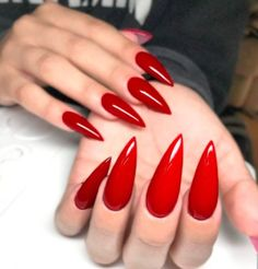 Today, i will share with you best Red Stiletto Nail Arts Red Stiletto Nail Arts Related posts: Best stiletto nail art designs Nail art wedding designs 2019 simple Game of Thrones Nail Arts 2019 Summer Fruit Acrylic Nail Arts Red Nail Art, Red Acrylic Nails, Acrylic Nail Designs, Matte Nails, Pink Nails, Nail Art Designs, Gel Nails, Nails Design, Red Art