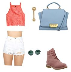 """Untitled #22"" by madison-lxii ❤ liked on Polyvore featuring Timberland, H&M and YHF"