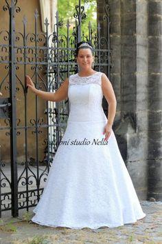 Wedding Dresses White Dress Lace Plus Size- Bílé svatební šaty pro  plnoštíhlé -Svatební studio a1566f7308