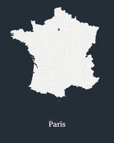 All roads lead to Paris petrol edition. #2 #mazeart #map #france #paris.  #map #maze  #artwork  http://ift.tt/1NJtlc7 #print #interactiveart