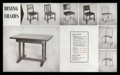 1940s utility furniture advertisement - clean and simple in design