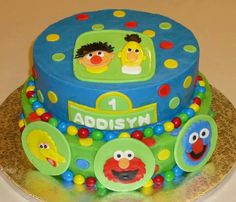 Sesame Street Cake By: Cheryl's Home Kitchen. Find us on FaceBook!