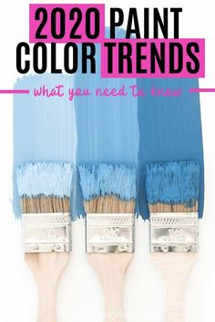 These 2020 paint color trends are great! So helpful in seeing what the latest colors are and how they look in interior design. Definitely provided home painting inspiration for my room decor. Click through to see the 2020 interior color trends. | Painting Tips Matching Paint Colors, Wall Paint Colors, Interior Paint Colors, Paint Colors For Home, Interior Painting, Trending Paint Colors, Popular Paint Colors, Room Wall Painting, Room Paint
