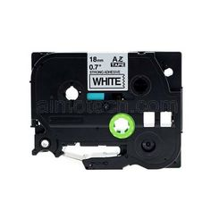 """Brother TZe-S241 18mm (0.75"""") Black on White Strong Adhesive Compatible Label Tape"""