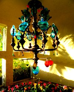 Beautiful hand blown glass chandelier: Dreams Cancun Resort & Spa
