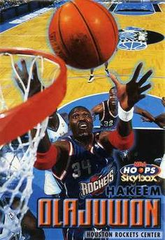 RARE 99/00 SKYBOX NBA HOOPS HAKEEM OLAJUWON HOUSTON ROCKETS MINT