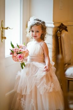 Pretty little flower girl. love this, but i want my girl in a tutu, so maybe a real tutu added to this instead of the long bottom