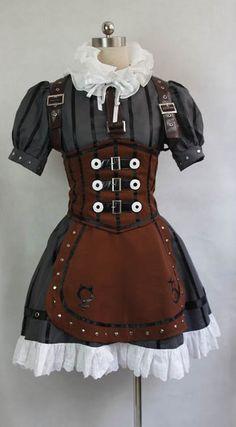 Alice: Madness Returns Alice Steamdress Cosplay Costume