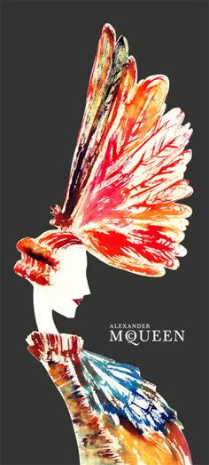Illustration | Women's Fashion | Alexander McQueen (BB)