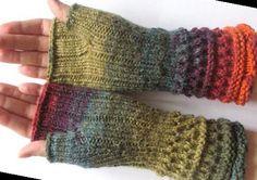 Winter Gloves, Fingerless Gloves Knitted, Wrist Warmers, Mittens, Closer, Purple, Blue, Burgundy, Pairs