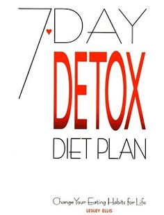 Quick weight loss : 7 -Day Detox Plan