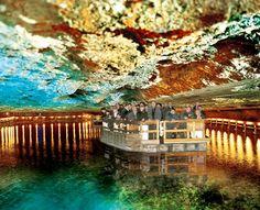 Salzbergwerk Berchtesgaden - underground salt lake in the salt mines