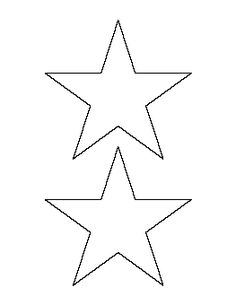 Printable full page large star pattern. Use the pattern ...