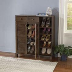 Pocillo Wood Shoe Storage Cabinet by Baxton Studio | Studios ...