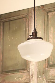 Schoolhouse Light With 10 Opal Schoolhouse by lucentlampworks, $188.00 (For the dining room)
