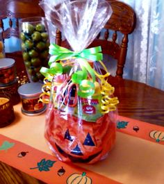 Trick or Treat with Avon--all wrapped and ready to go!  Featuring the Light-Up Pumpkin Bag! Item 096-975
