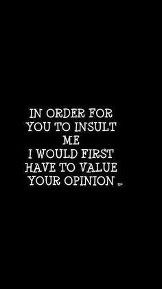 Opinion matters?