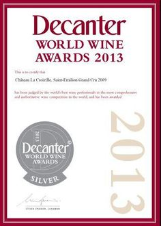 Silver Medal, Decanter World Wine Awards 2013