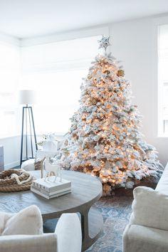 Flocked Christmas Tree | A White Christmas Photos by Tracey Ayton | http://monikahibbs.com