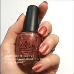 It's a bottle of OPI Marquis D'Mauve from the 2002 European collection! Stupid Pokemon, Opi Pink, Manicure, Nails, Mauve, Swatch, Finger, Nail Polish, Marquis