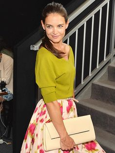 I don't know that I would be able to pull this off, but cute outfit on her. Katie Holmes - People.com