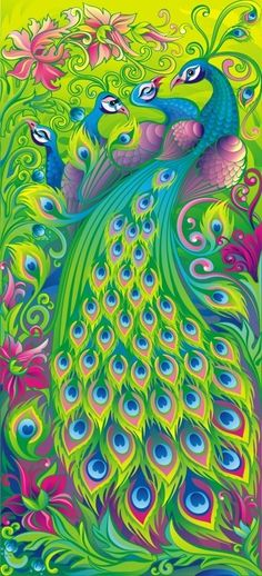 Contemporary Peacock Art - LUV