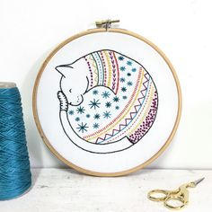 Lemon embroidery pinteres cat contemporary embroidery kit embroidery hoop art learn how to embroider hand embroidery ccuart Choice Image