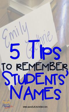5 Tips to Remember Students Names
