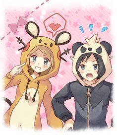 Pokemon Serena & Calum! Cute outfits!!