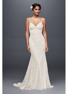 Soft Lace Wedding Dress with Low Back WG3827:  16364 Beach Boulevard Westminster, CA 92683 657-204-1231 3.41 miles away