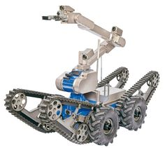 Small EOD Robot    telerob's small EOD robot, the telemax, is suitable for bomb disposal work in confined spaces, such as aircraft or ships.