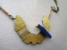 HAROLD O'CONNOR NECKLACE 18K gold, lapis lazuli, oxidized sterling silver