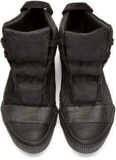 Boris Bidjan Saberi Black Horse Leather Bamba 1 Sneakers