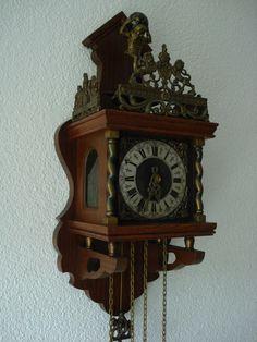 Dutch Zaandam Zaanse Atlas Pendulum Wall Clock Klok