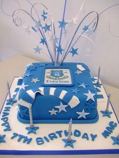 Everton Team cake sugar craft Pinterest Cake and Sugaring