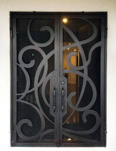 View our wrought large range of wrought iron products. From Wrought Iron Gates to Wrought Iron doors to Wrought Iron balustrades, we've got it all. Or visit our Melbourne showroom today! Wrought Iron Security Doors, Wrought Iron Doors, Metal Doors, Balcony Grill Design, House Outside Design, Front Door Design, Entry Doors, Decoration, Security Screen