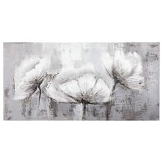 Charming and elegant, this oil painting canvas makes the perfect accessory for your living room. Its simple floral design will accent your colour scheme wonderfully. Canvas Display, Carved Wood Wall Art, Design Floral, Black And White Painting, Canvas Wall Art, Painting Canvas, Flower Art, Watercolor Art, Flowers