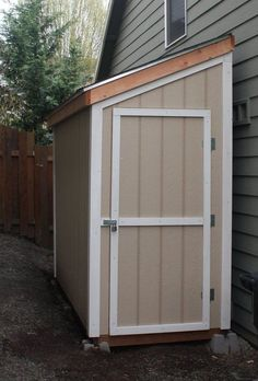 Shed Plans - Slant Roof Shed Plans, 4 x 10 Shed, Detailed Building Plans - Now You Can Build ANY Shed In A Weekend Even If You've Zero Woodworking Experience! Small Shed Plans, Wood Shed Plans, Small Sheds, Diy Shed Plans, 4x8 Shed, Backyard Storage, Storage Shed Plans, Backyard Sheds, Outdoor Sheds