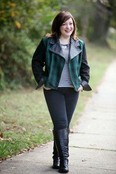 crop jacket & boots
