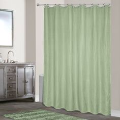 Extra Long Waffle Weave Shower Curtain